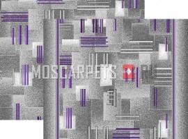 Палас Контур 9425 серо-фиолетовый
