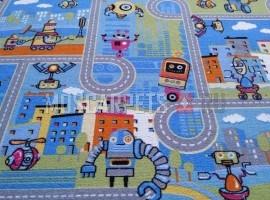 Палас Роботы 9513 голубой
