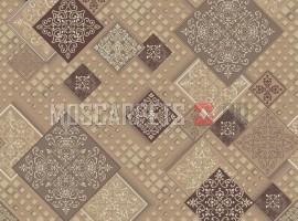 Палас Арабеска 4243 бежево-коричневый