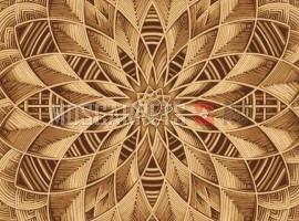 Палас Ротанг (капет) 1723 бежево-коричневый