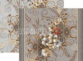 Паласная дорожка Букет 1187/54 серо-коричневый