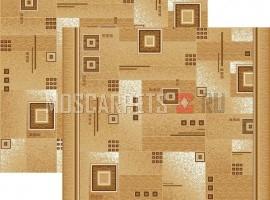 Паласная дорожка Квадрат 1170/43 бежево-коричневый