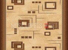 Паласная дорожка Архимед 1723 бежево-коричневый