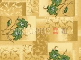 Палас Лана 176 бежево-зеленый
