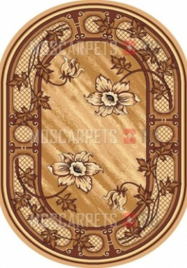 Палас Лиана (карпет) бежево-коричневый