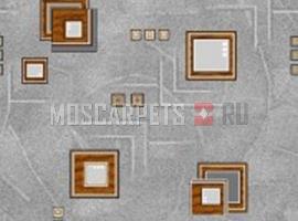 Палас Архимед 9026 серо-коричневый