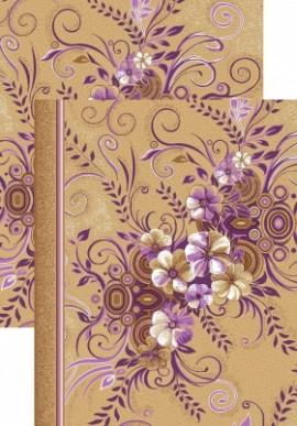 Палас Букет 1187/40 бежево-фиолетовый