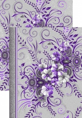 Палас Букет 1187/50 серо-фиолетовый