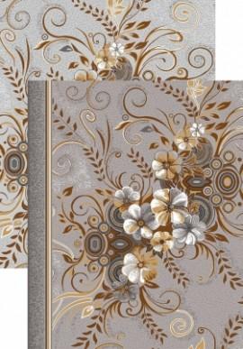Палас Букет 1187/54 серо-коричневый