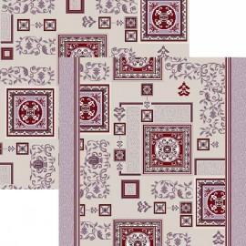 Палас Фаянс 1359a5/85 жемчужно-бордовый