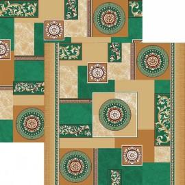 Палас Гелиос 1518/36 бежево-зеленый