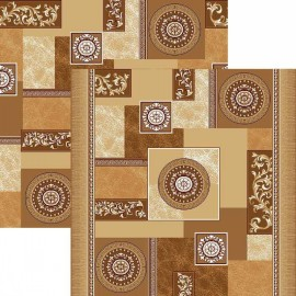 Палас Гелиос 1518/43 бежево-коричневый