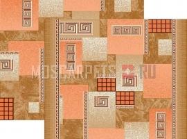 Палас Греция 1286/39 бежево-терракотовый
