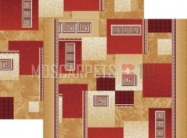 Палас Греция 1286/45 бежево-красный
