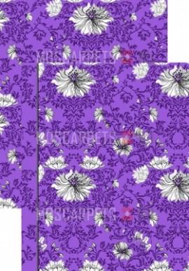 Палас Хризантема 1229а5/50 фиолетово-серый