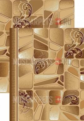 Палас Клинкер 1239/43 бежево-коричневый