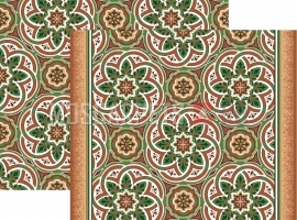 Палас Кордова 1507а6/36 бежево-зеленый