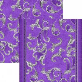 Палас Кружева 1288с5/50 фиолетово-серый