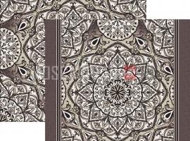 Палас Куфи 1522а4/100 серо-белый