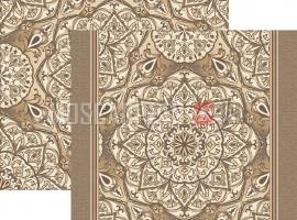 Палас Куфи 1522а6/103 светло-шоколадный