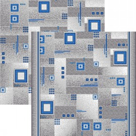 Палас Квадрат 1170a2/47 серо-голубой