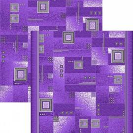 Палас Квадрат 1170а5/50 фиолетово-серый