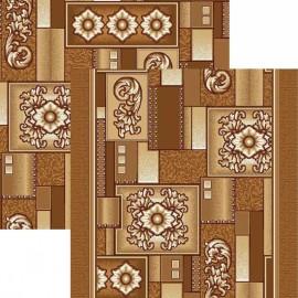 Палас Медуза 1519/43 бежево-коричневый
