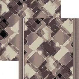 Палас Мираж 1580b2/100 бело-серый