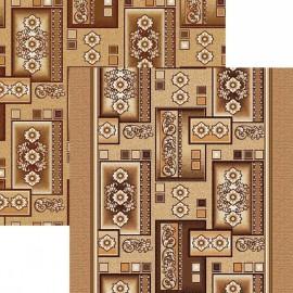 Палас Орнамент 1520/43 бежево-коричневый
