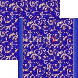 Палас Рококо 1243/37 синий (распродажа)