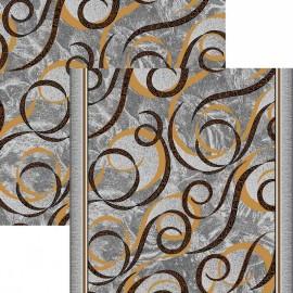 Палас Силуэт 1304/54 серо-коричневый