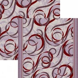 Палас Силуэт 1304c2/85 жемчужно-бордовый