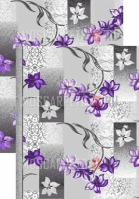 Палас Свежесть 1236/50 серо-фиолетовый