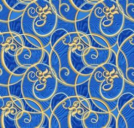 Палас Юнона 500 синий