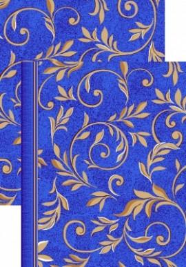 Палас Вензель 1161/37 сине-бежевый