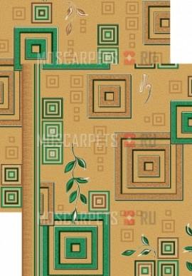 Палас Версачи 1257/36 бежево-зеленый