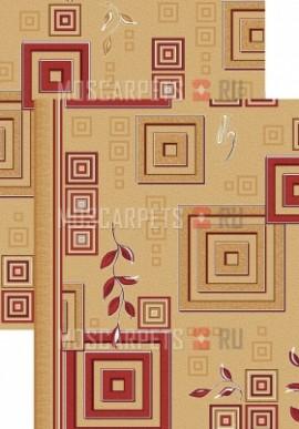 Палас Версачи 1257/45 бежево-красный