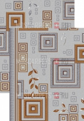Палас Версачи 1257/54 серо-коричневый