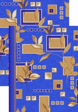 Палас Ветви 1166с5/37 синий