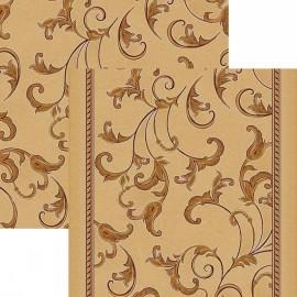 Паласная дорожка Кружева 1288/43 бежево-коричневый