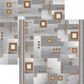 Паласная дорожка Квадрат 1170/54 серо-коричневый