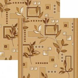 Паласная дорожка Ветви 1166/43 бежево-коричневый