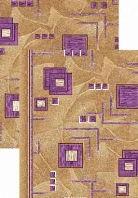 Палас Кубик 970/40 бежево-фиолетовый