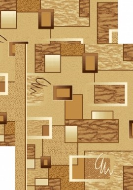 Палас Зигзаг 853/43 бежево-коричневый