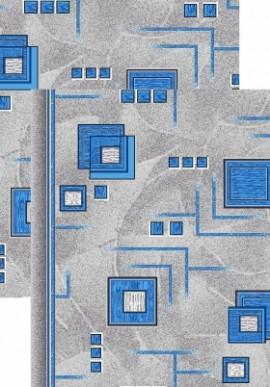 Палас Кубик 970/47 серо-голубой