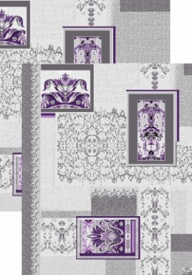 Палас Багет 1112/50 серо-фиолетовый