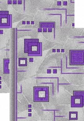 Палас Кубик 970/50 серо-фиолетовый