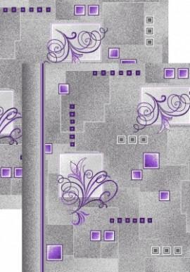 Палас Виноградная лоза 1098/50 серо-фиолетовый