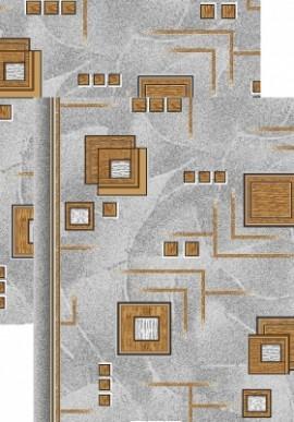 Палас Кубик 970/54 серо-коричневый