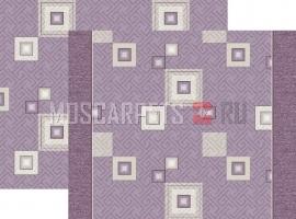 Палас Плитка фиолетовый